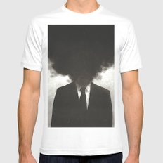 Confessions of a Guilty Mind. White LARGE Mens Fitted Tee