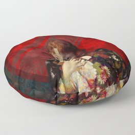 Red and Fair Floor Pillow