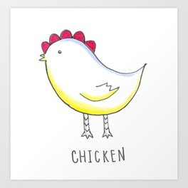 Little Chick Art Print