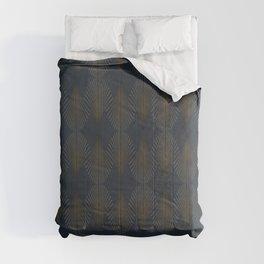 Art Deco Gold/Navy Pattern II Comforters