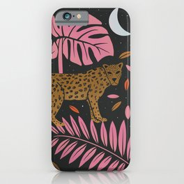 Leopard Black & Pink iPhone Case