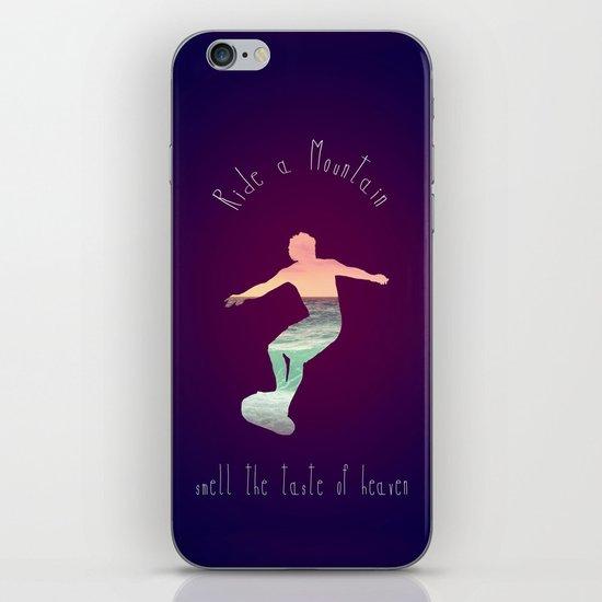 RIDE A MOUNTAIN iPhone & iPod Skin