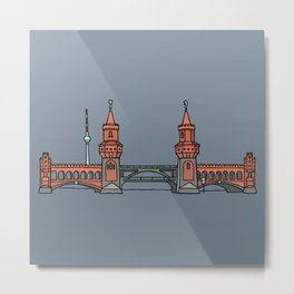 Oberbaum Bridge in Berlin Metal Print