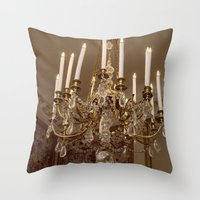 chandelier Throw Pillows featuring Chandelier by Pati Designs