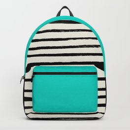 Aqua & Stripes Backpack