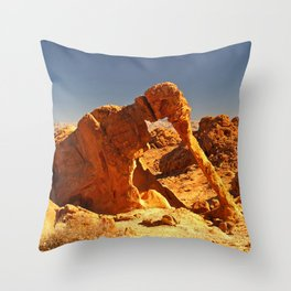 Elephant Rock in the Valley of Fire. Throw Pillow