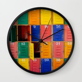 Lockers Wall Clock