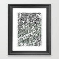 The Town of Train 1 Framed Art Print