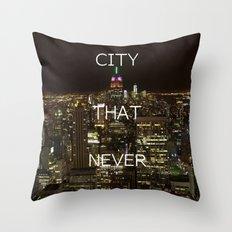 New York, New York. Throw Pillow