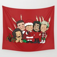 liam payne Wall Tapestries featuring It's Christmas, Liam Payne by Ashley R. Guillory