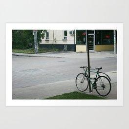 vintage city bike Art Print