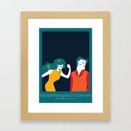 Found In Translation - Backpfeifengesicht Framed Art Print