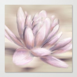 Water Lily - Blush Canvas Print