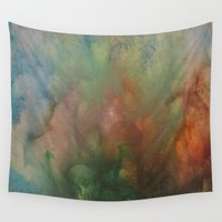 angels Wall Tapestries featuring Angels by Benito Sarnelli