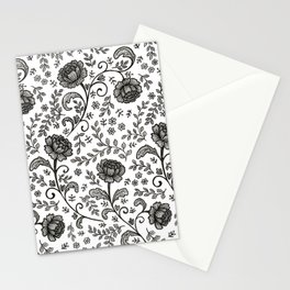 Floral Lace (black on white) Stationery Cards