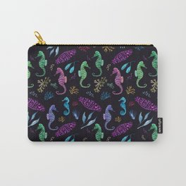 Sparkly Seahorse Carry-All Pouch
