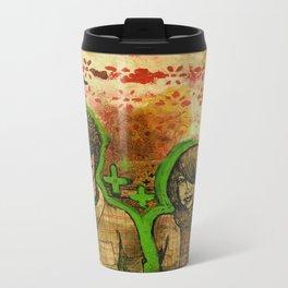 Heart Face Metal Travel Mug