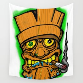 Cocktail Weenie and the Tiki Hut Wall Tapestry