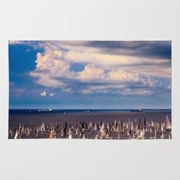 The Barcolana regatta in the gulf of Trieste Rug