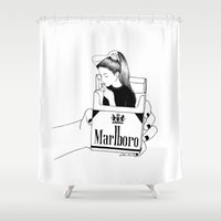 smoke Shower Curtains featuring Smoke by Henn Kim