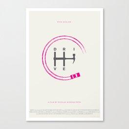 Drive minimalist poster Canvas Print