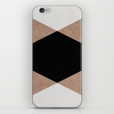 natural, cream and black triangles iPhone & iPod Skin