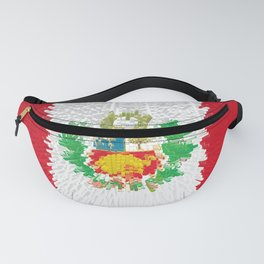 Extruded flag of Peru Fanny Pack