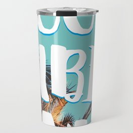"""""""Good Vibes Only."""" - Quote - Tropical Paradise Palm Trees Travel Mug"""