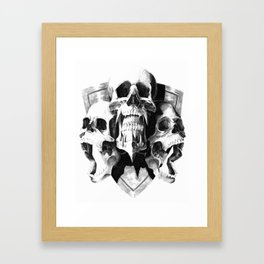 ominous dark without type Framed Art Print
