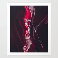 Different shades of red in Antelope Canyon Art Print