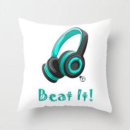 Beat It! Throw Pillow