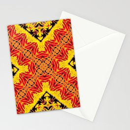 ethnic cross red Stationery Cards