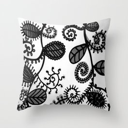 Fleurs sauvages - Wild flowers Throw Pillow