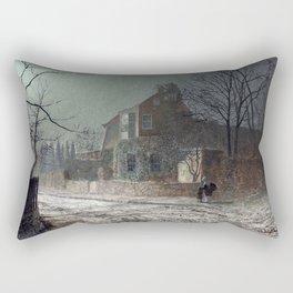 John Atkinson Grimshaw - Yew Court, Scalby, Near Scarborough - Victorian Retro Vintage Painting Rectangular Pillow
