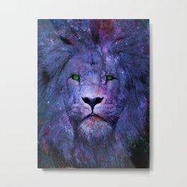 Lion Galaxy Metal Print
