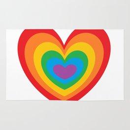 LGBTQ Rainbow Heart CSD Gay Pride Lesbian T-Shirt Love Rug