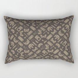 Control Your Game - Tradewinds Vintage Khaki Rectangular Pillow