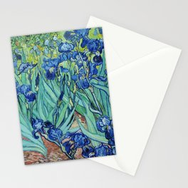 Famous art, Iris by Vincent van Gogh.   Stationery Cards
