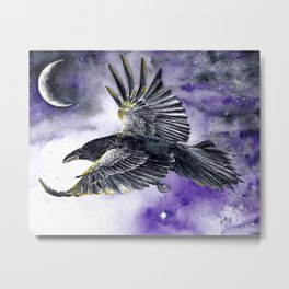 One for Sorrow Metal Print