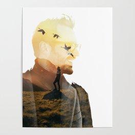 Landscape Man (Double Exposure) Poster