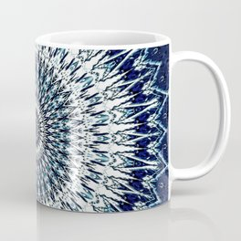 Indigo Navy White Mandala Design Coffee Mug