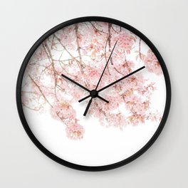 Pink Blooming Cherry Trees Wall Clock