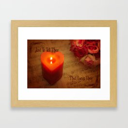 Embedded Within My Heart Framed Art Print