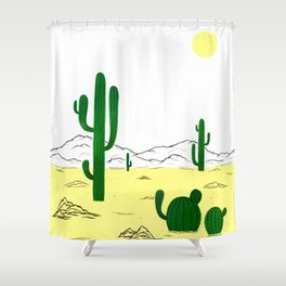 Man & Nature - The Desert Shower Curtain