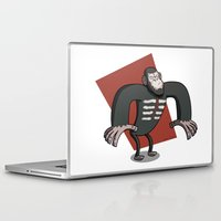 planet of the apes Laptop & iPad Skins featuring Caesar - Dawn of the Planet of the Apes Cartoon by Aaron Lecours