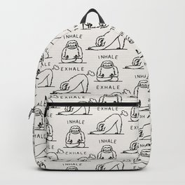 Inhale Exhale Sloth Backpack