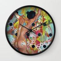 door Wall Clocks featuring Door by Kim Leutwyler