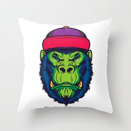 Cool Gorilla Throw Pillow