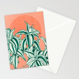 Sunset between leaves Stationery Cards
