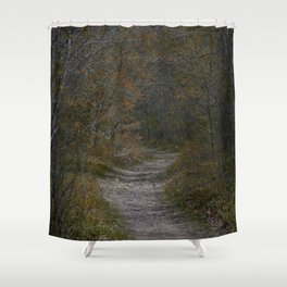 Off the Paved road Shower Curtain